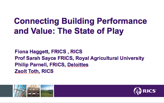 Connecting Building Performance and Value: The State of Play