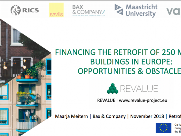 Financing the retrofit of 250 million buildings in Europe: opportunities and obstacles