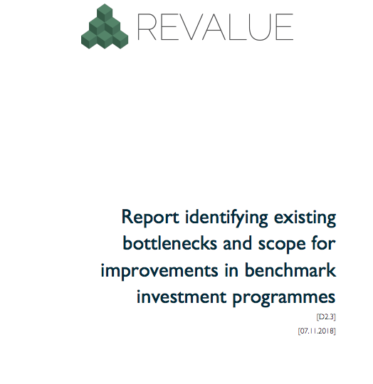 Identifying the existing bottlenecks and scope for improvements in benchmark investment programmes