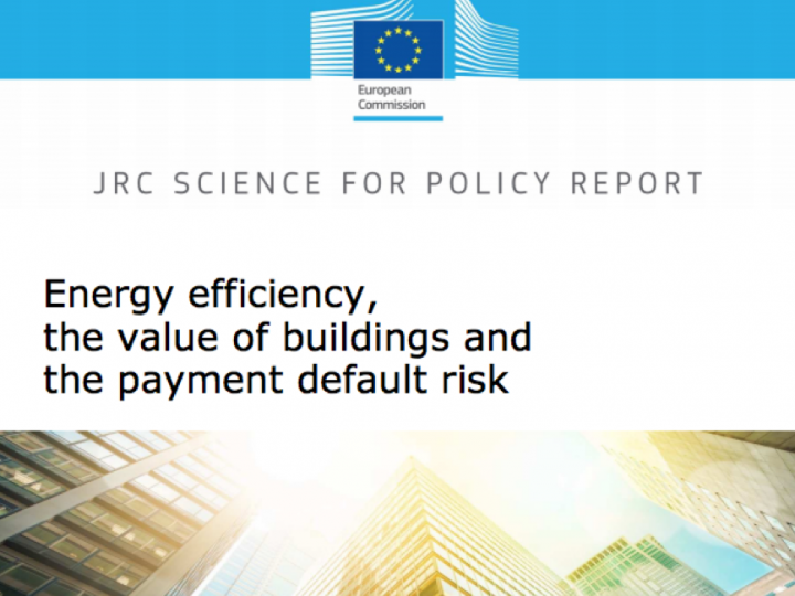 Science for policy: Energy efficiency, the value of buildings and the payment default risk