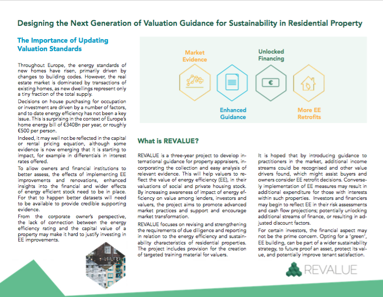 Designing the Next Generation of Valuation Guidance for Sustainability in Residential Property