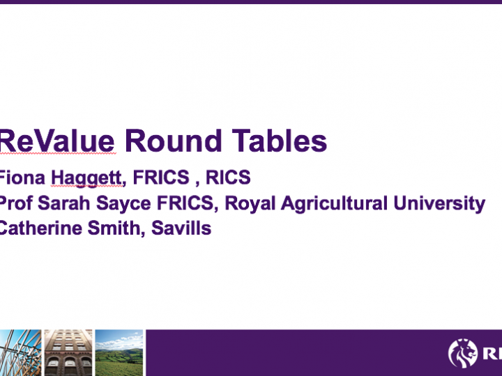 REVALUE Round tables with Valuers in the UK