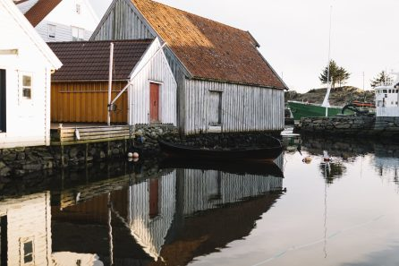 Norway house on water